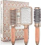 Lily England Rose Gold Hair Brush Set - <span class='highlight'>Luxury</span> Professional Hairbrush Gift Set for <span class='highlight'>All</span> Hair Types