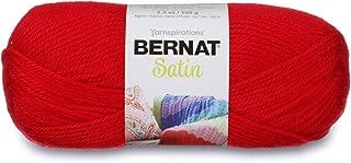 Bernat Satin Yarn, Crimson