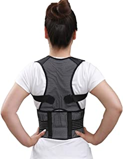 JM-Y Back Brace Posture Corrector for Women and Men Back Lumbar Support Improves Posture and Provides Lumbar Support - for Lower and Upper Back Pain - Men and Women