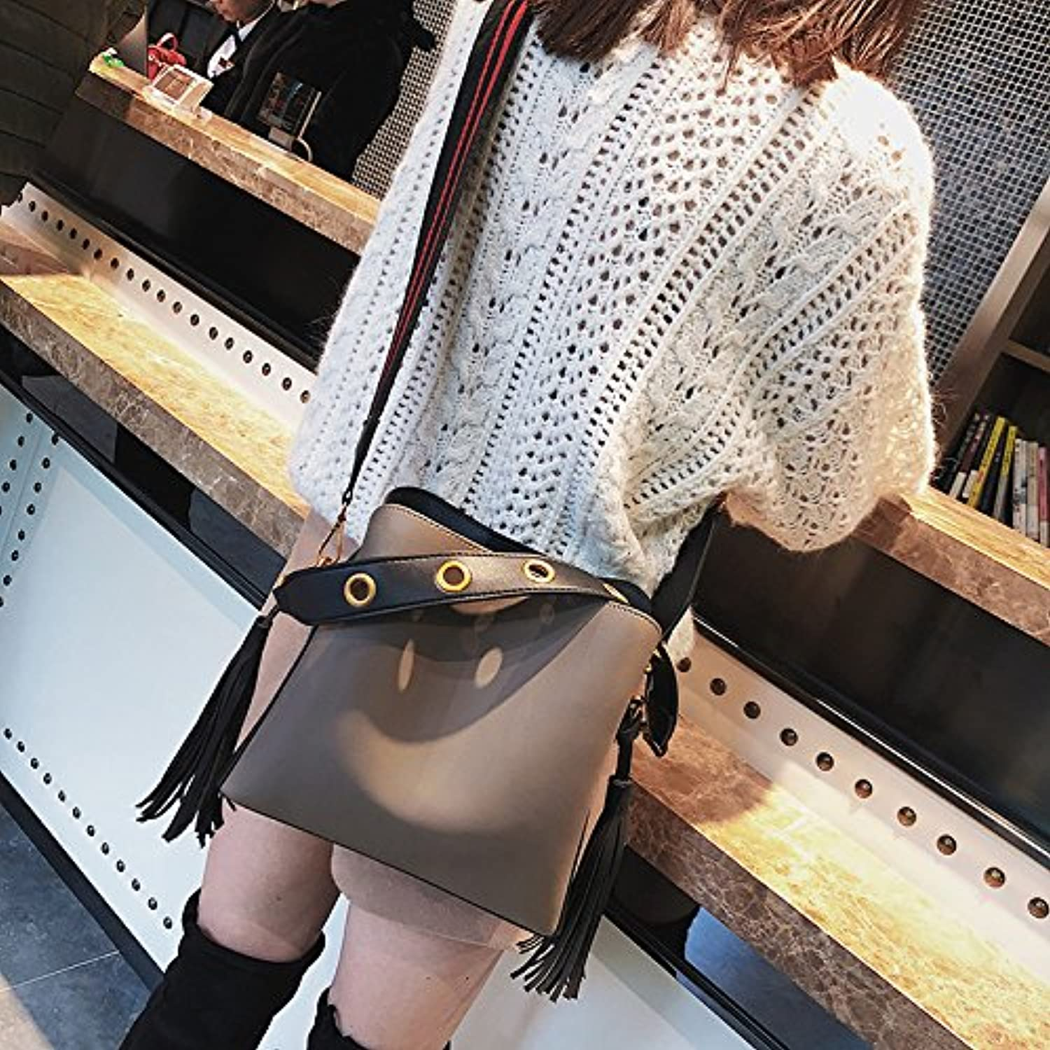 Shoulder Bags The New color Bucket Bag Retro Portable Shoulder Bag Messenger Bag Shoulder Strap Width