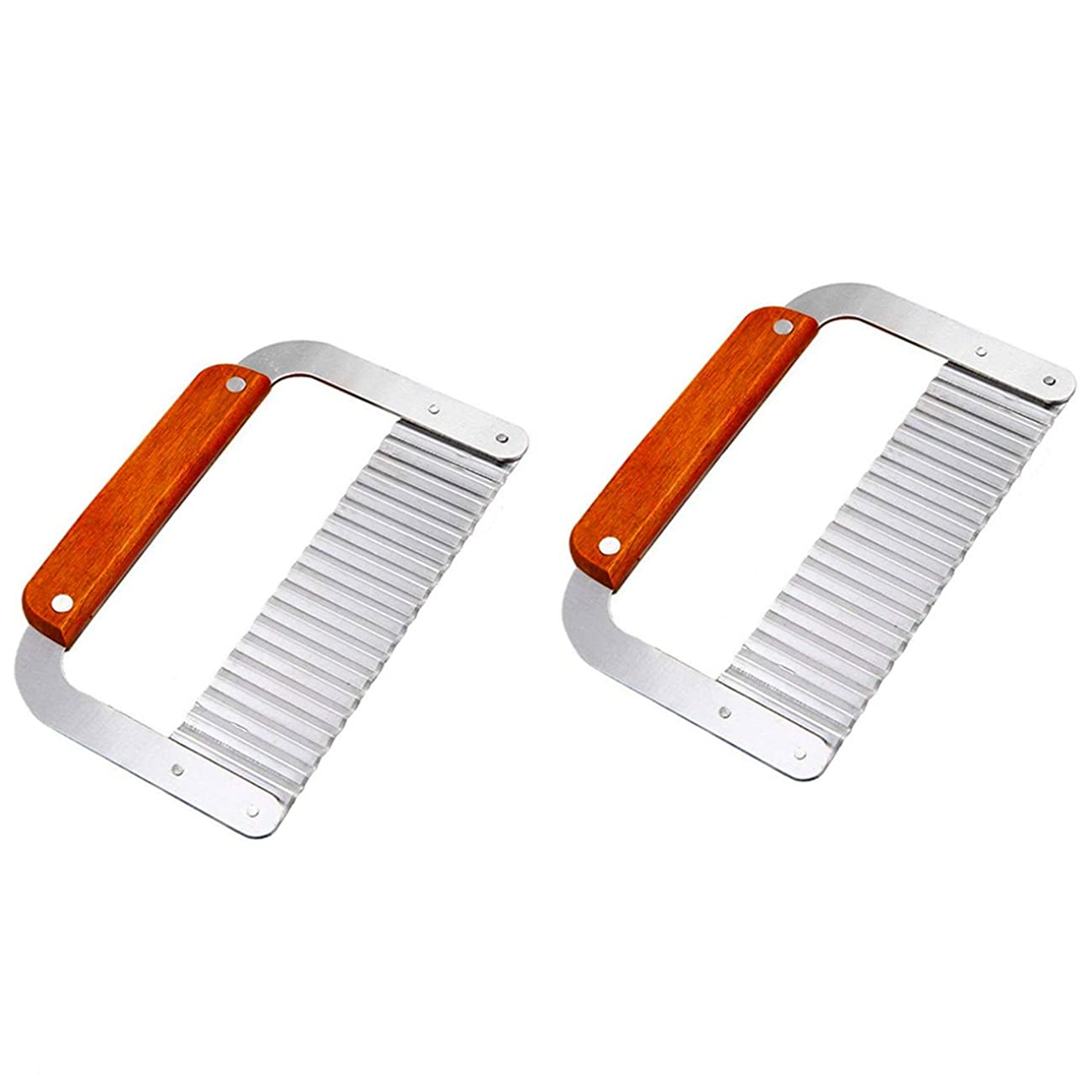 DD-life 2-PACK Stainless Steel Wavy Soap Cutter Soap Making Tools Hardwood Handle Pro. Supply