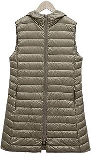 TieNew Womens Winter Long Down Gilet Down Coat Vest Ultra Light Weight Packable Puffer Jacket Vest