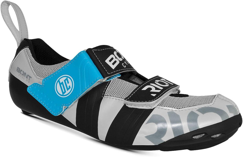 Bont Riot TR+ Microfibre Triathlon Bike shoes Pearl White Black Size 38