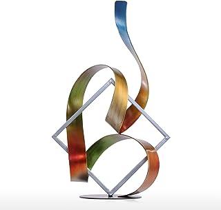 Tooarts Square et ruban Sculpture moderne Sculpture abstraite Sculpture en métal intérieure-extérieure Decor
