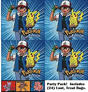 Pokemon party favor bags (24 count). Great for loot bags, treat bags, birthday parties