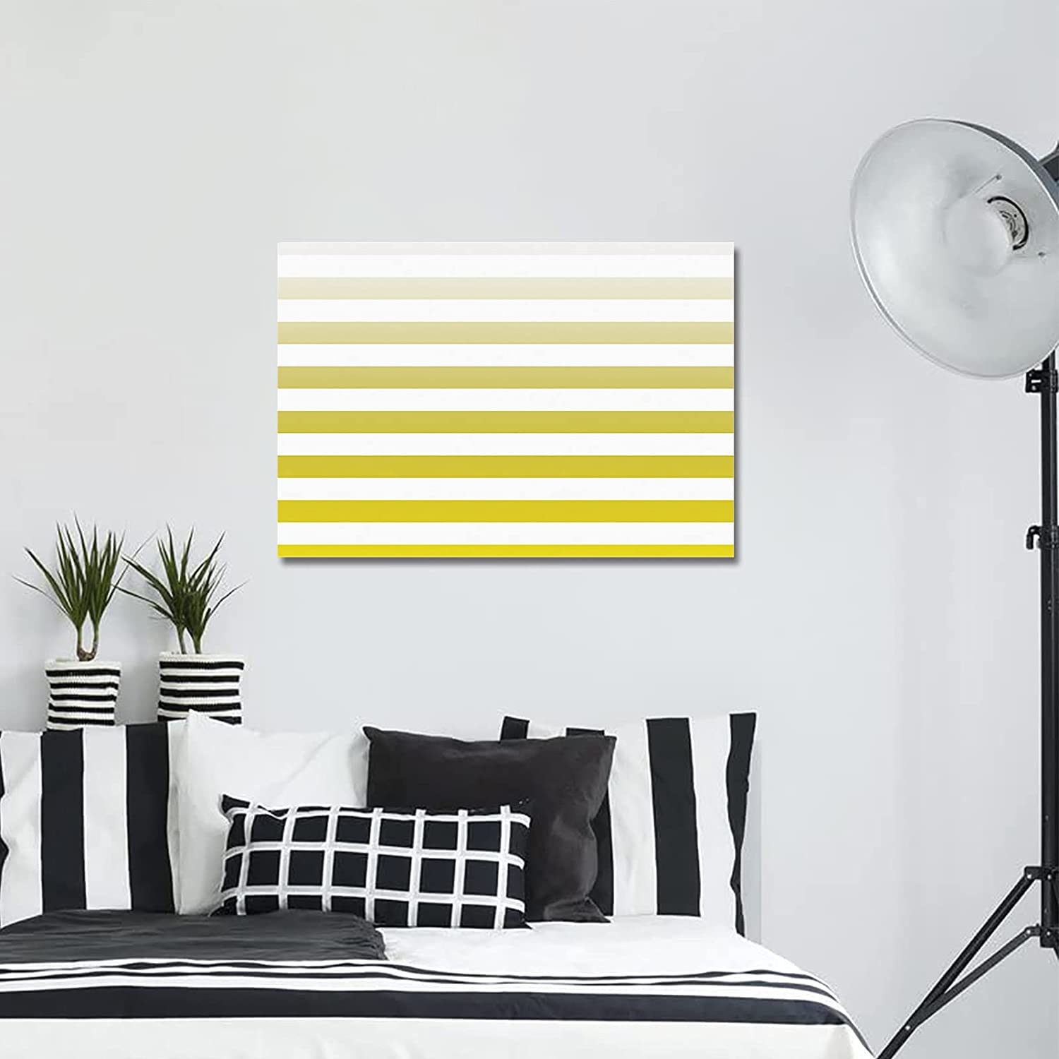 Wall Art Canvas Painting Artwork for Award-winning Max 69% OFF store White and Bedroom Yellow Gr