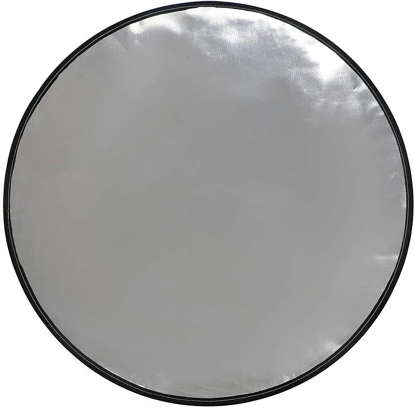 Cubierta de protección para exteriores resistente al calor duradera Fácil de limpiar, almohadilla a prueba de fuego portátil impermeable para cubierta, césped, hormigón, piedra, debajo de la estufa