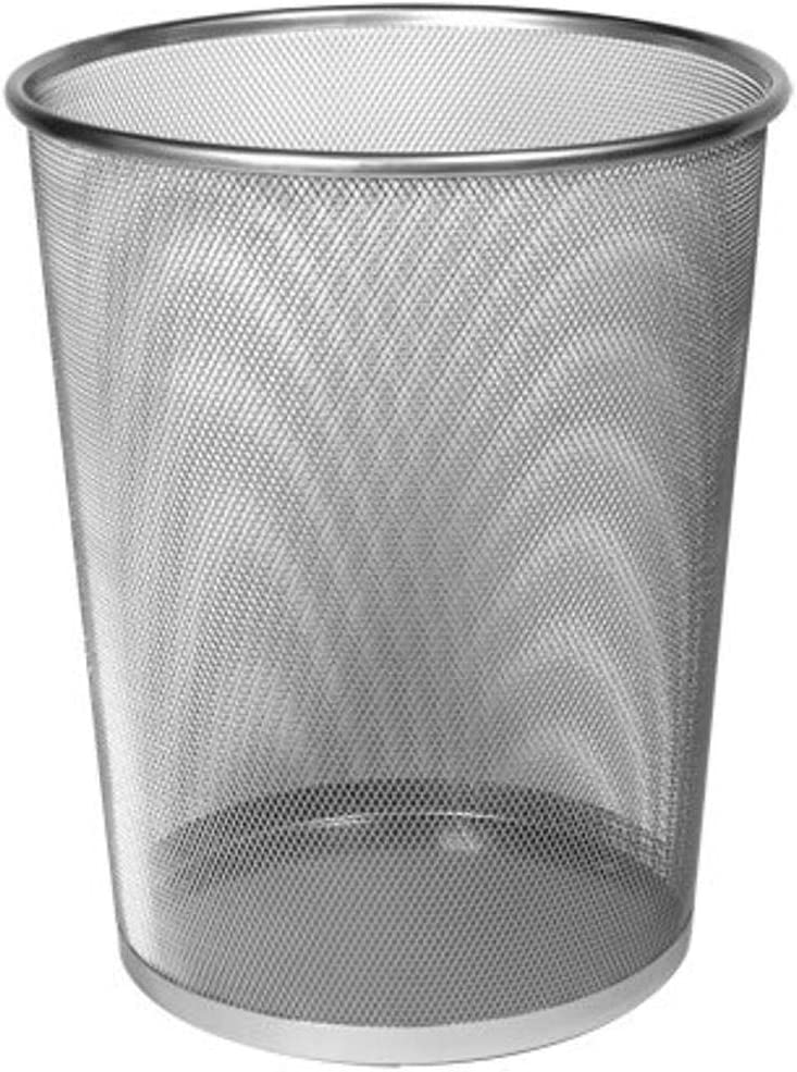 Design Ideas shipfree Mesh Waste Now free shipping Silver Can