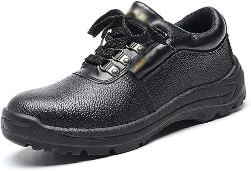 JESSIEKERVIN YY3 Chaussures de Travail pour Hommes en en en Plein air, Chaussures d'assurance de Travail (Couleur   Noir, Taille   42) f2b