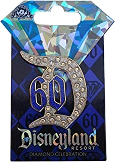 Disneyland 60th Anniversary Diamond Celebration Jeweled D 60 Trading Pin by Disney Official Pin Trading