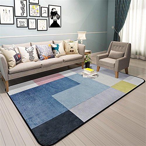 Moquettes tapis et sous-tapis Design Rug Nordic Irregular Pattern De Modern Minimaliste Chambre Salon Carpet Shop For Home Table de chevet Sofa Tapis Géométrique Bleu (taille : 190 * 240cm)