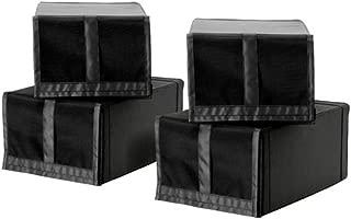 IKEA Skubb Shoe Box Black 4 pack 103.000.36 Size 8 ¾x13 ½x6 ¼