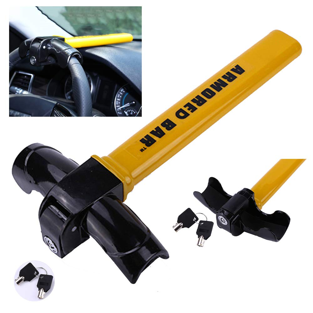 LPY-Heavy Duty Baseball Bat Anti Theft Car Vehicle Steering Wheel Security Lock with Two Keys