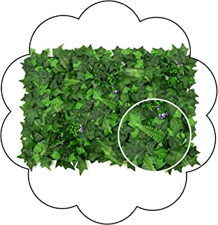 XEWNEG Artificial Hedge Panel Wall Green Faux Fence Mat Fake Privacy Screens Outdoor Greenery Panel Backdrop Trellis Outdo...
