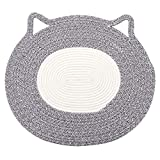 Holeco Comfy Cotton Rope Pet Cushion Pet Placemat, Cat Mat Nap Pad Sleeping Carpet Scratching Mat, Suitable for Small and Medium Pet (20.5' x 18.0')