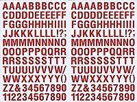 (シャシャン)XIAXIN 防水 PVC製 アルファベット ナンバー ステッカー セット 耐候 耐水 ローマ字 数字 キャラクター 表札 スーツケース ネームプレート ロッカー 屋内外 兼用 TS-121a (2点, レッド)