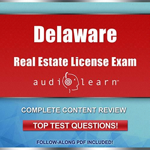 Delaware Real Estate License Exam AudioLearn audiobook cover art