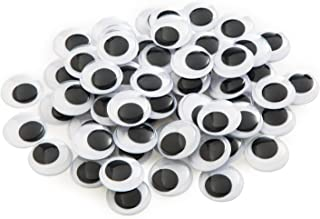 200 Pieces 20mm Black Wiggle Googly Eyes with Self-Adhesive
