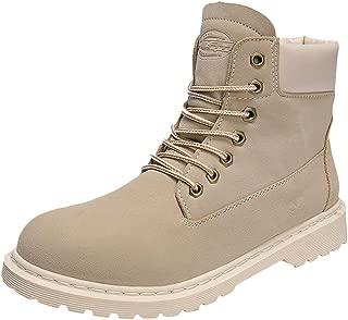Shoes for Men, Dress Shoes, Tooling Leather Short Boots Walking Althletic Shoes Men's Vintage Flat Slip Casual for Trekking Black Sleeky Breathable FULLSUNNY