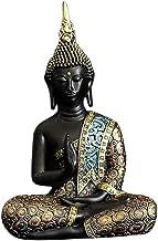 Flameer Buddha Statue Small Thai Buddha Meditation Statue Peace Harmony Buddha Statue for Home Decor Figurine Ornament