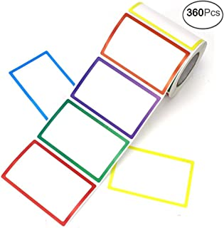 APLANET 360pcs Colorful Plain Name Tag Labels Stickers, 3.5x2.25 Inches, 6 Colors