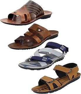 Earton Mens Stylish & Trendy Multicolor Combo Canvas Sandals & Floaters ($p)