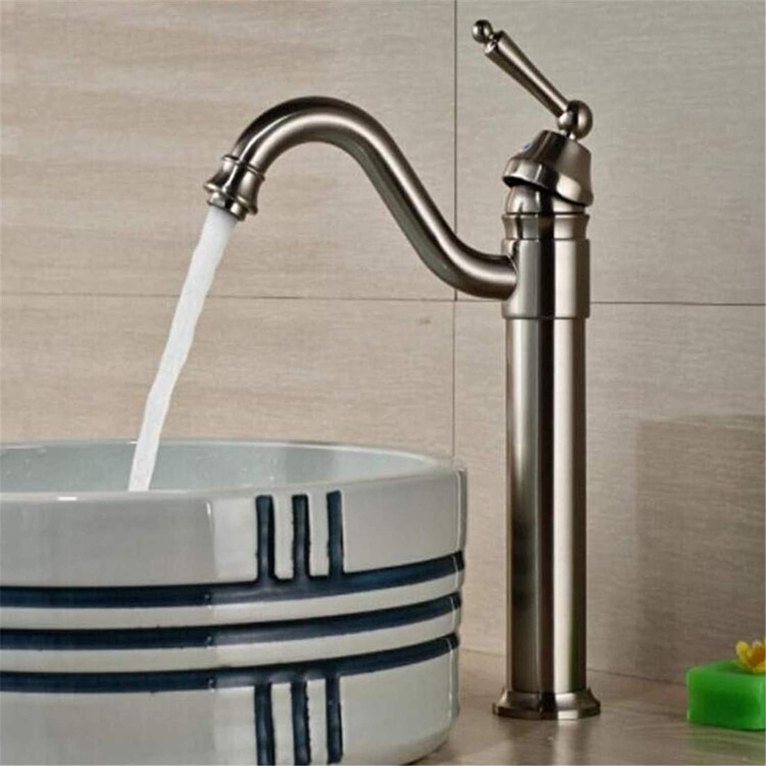 Faucet Modern Plated Mixer Faucet Faucet Washbasin Mixer Finished Deck Mounted Height Spout Bathroom Sink Mixer Tap