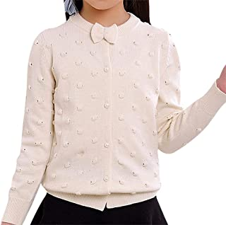 e781328d5307 Sweety Girls Solid Color Panelled Mix Knit Button Up Full Sleeve Wool  Cardigan