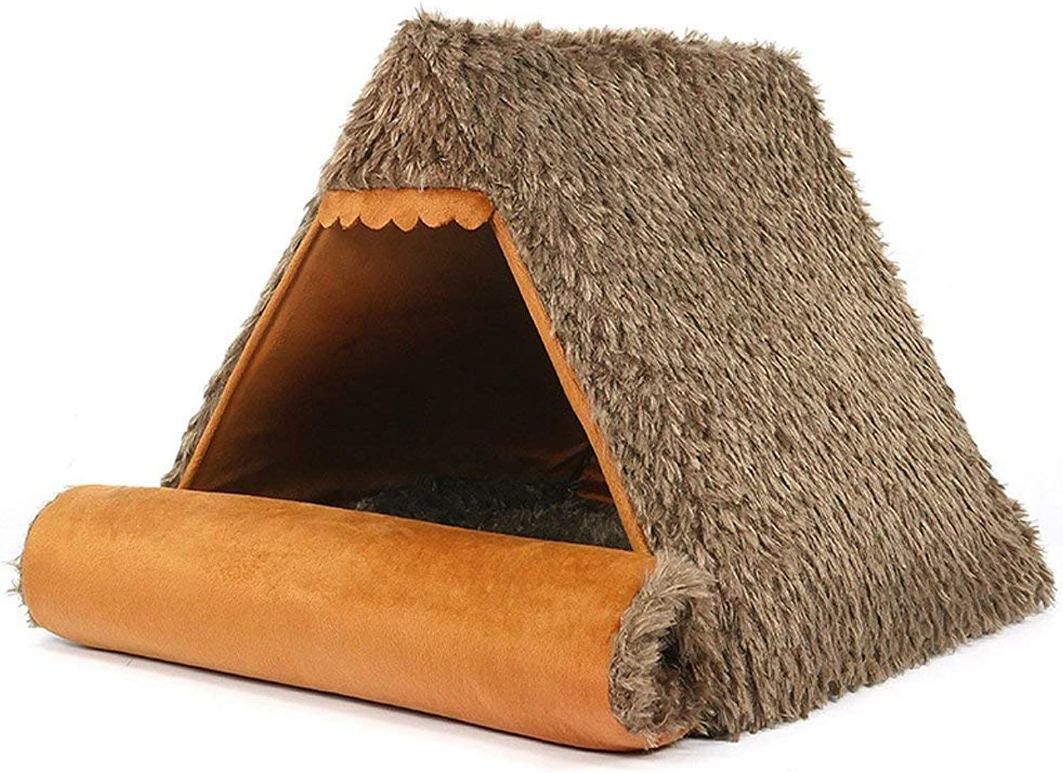 CHONGWFS Winter Teddy Dog House Small Dog Tent Cat House Dog House Creative Soft Comfortable Four Seasons Dog House Mat