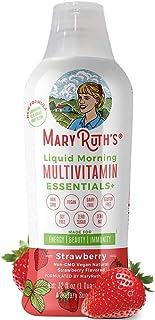 Immunity Daily Liquid Multivitamin w/Organic Elderberry by MaryRuth's (Strawberry) Organic Whole Food Blend- Vitamin A B C D3 E Trace Minerals & Amino Acids 100% Vegan - Men Women Kids 0 Sugar 32oz