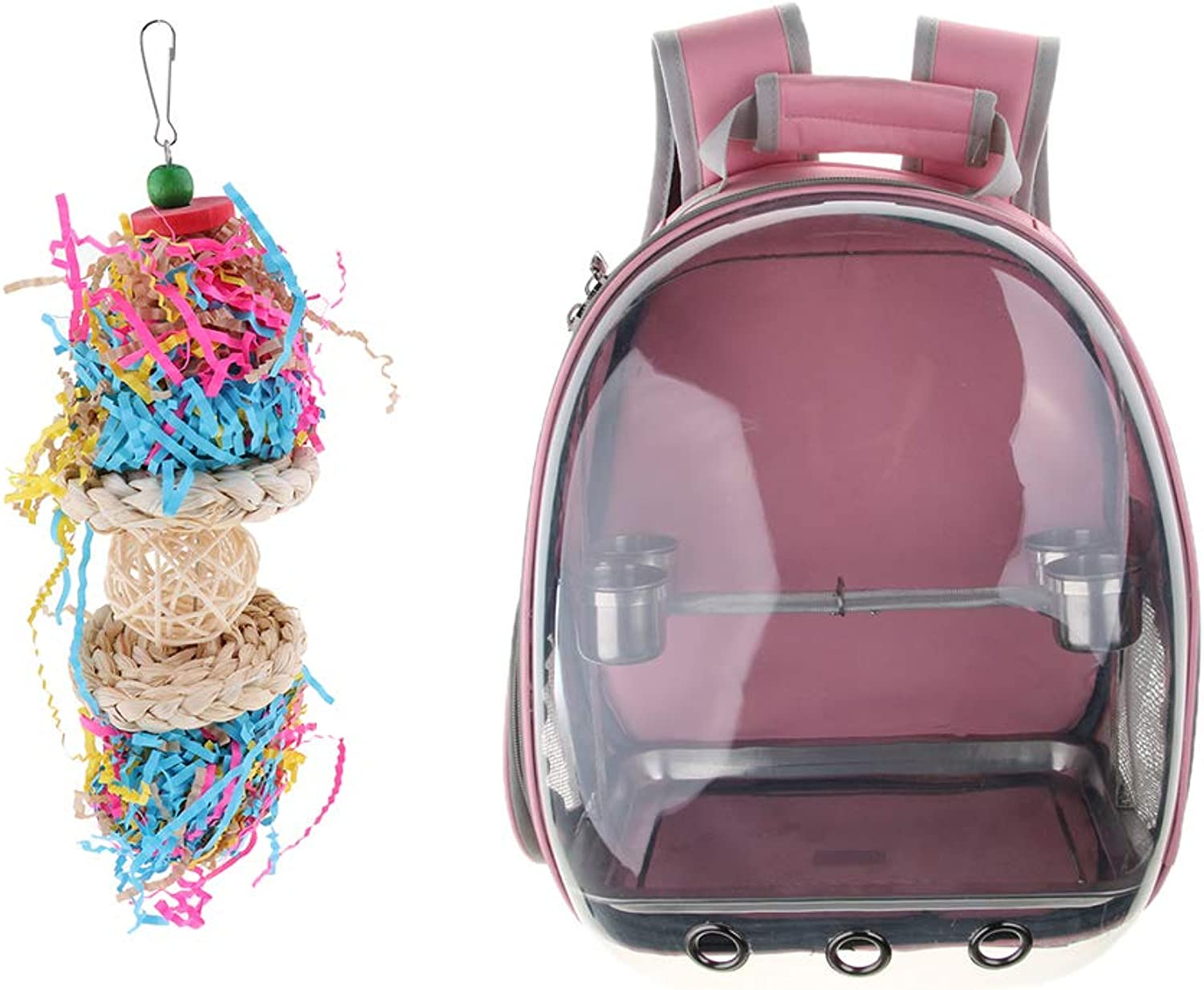 Baoblaze Breathable and Comfortable Birds Travel Backpack + Parred Swing Chew Toys