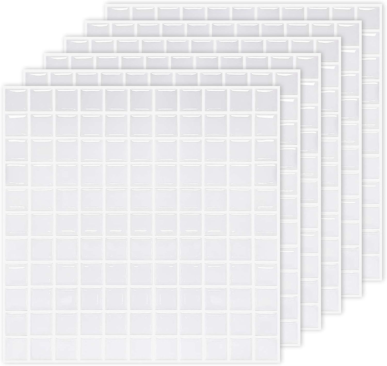 MORCART Peel and Stick Backsplash White Mosaic Til Max Very popular 61% OFF Square Tile