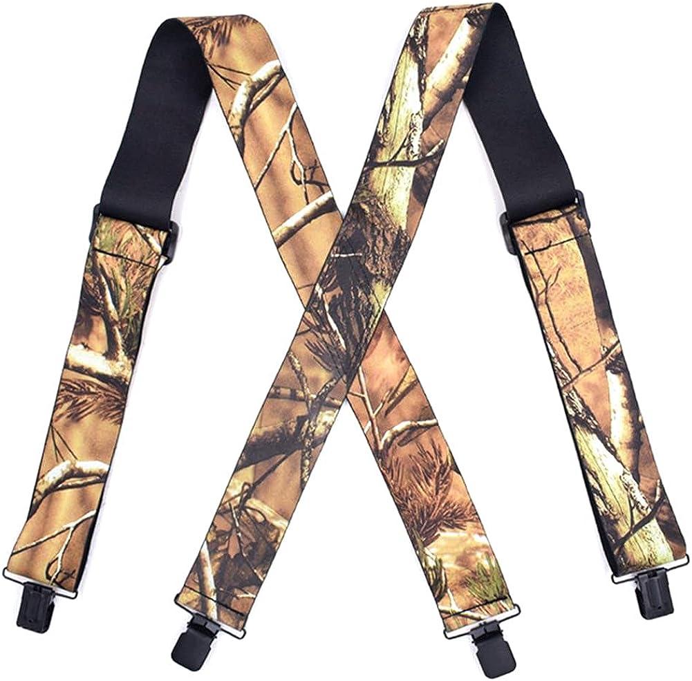 Print Suspender Men Elastic Tactical X Shape Outdoor Leisure Style Widened 120x5Cm Accessories
