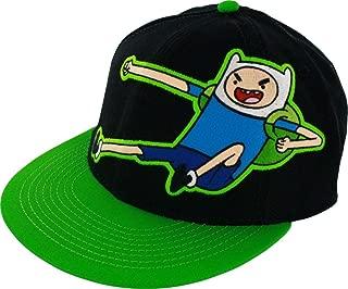 Adventure Time Finn Kick Mens Black Flexfit Baseball Cap Hat