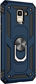 Case Compatible with Samsung Galaxy J6 2018 Cover Military Grade Rugged Shockproof Skin Magnetic Car Mount Case for Galaxy J6 Plus Phone Case (Blue, Galaxy J6)