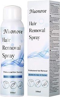 Spray de Depilación, Hair Removal Spray, Hair Remover, Espuma para Depilación Hair Erase, spray de depilación sin dolor, fórmula suave, mousse depilatoria, adecuado para hombres y mujeres, 100 ml