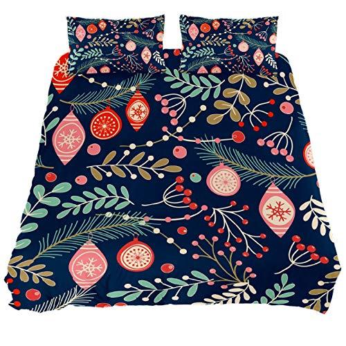 ASIGA Festivel Tree Double Duvet Cover Set 3 Pieces Bedding Set for Women Men,Bedroom Bed Linen