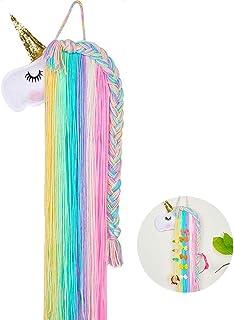 WENTS Unicorn Hair Bow Holder Pinzas para el Cabello Organizador de Diadema Unicornio Colgante de Pared Decoración para el...