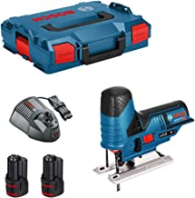Bosch GST 12V-70 - Sierra de calar con batería (12 V, en caja L-Boxx + 2 baterías de 6,0 Ah + cargador)