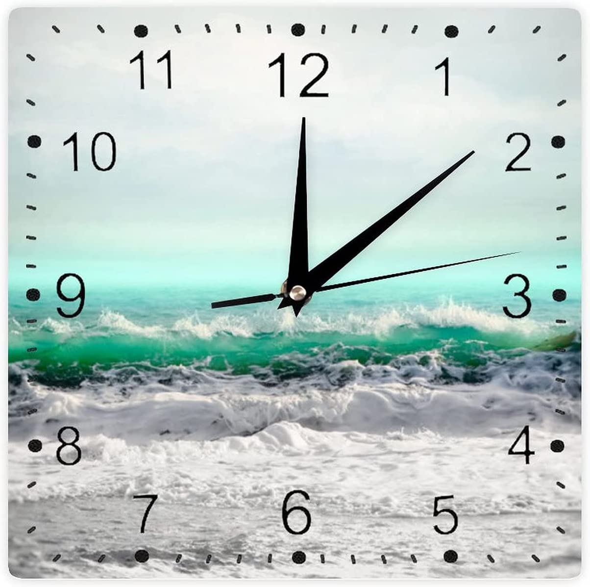 Modern Wall Clock PVC Max Fort Worth Mall 63% OFF Square Painting Seascape W Photo Sea
