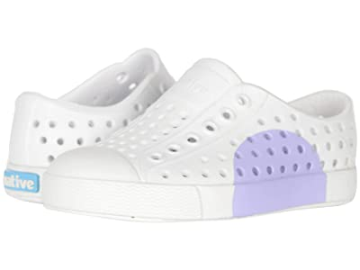 Native Kids Shoes Jefferson Block (Toddler/Little Kid) (Shell White/Shell White/Powder Circle) Girls Shoes