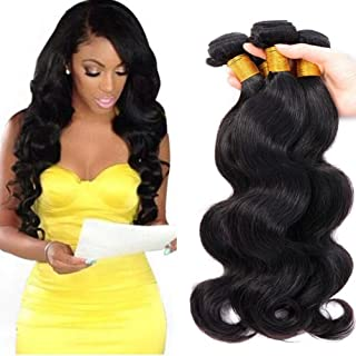 8A Brazilian Virgin Hair Body Wave Remy Human Hair Bundles Weaves 100% Unprocessed Hair Extensions Natural Color (16 18 20 22)
