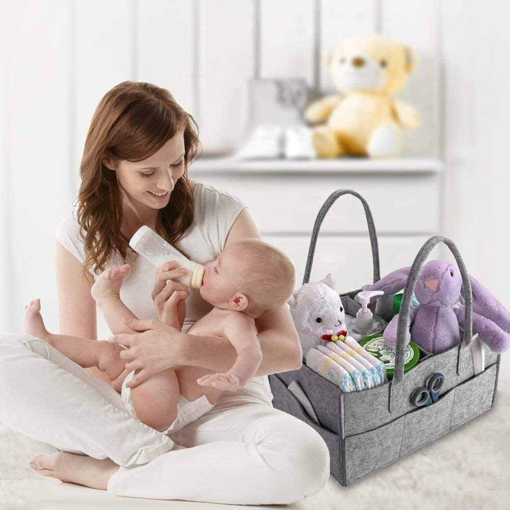 Mumoo Bear Other Baby Diaper Caddy Organizer Portable Large Diaper Caddy Tote Car Travel Bag