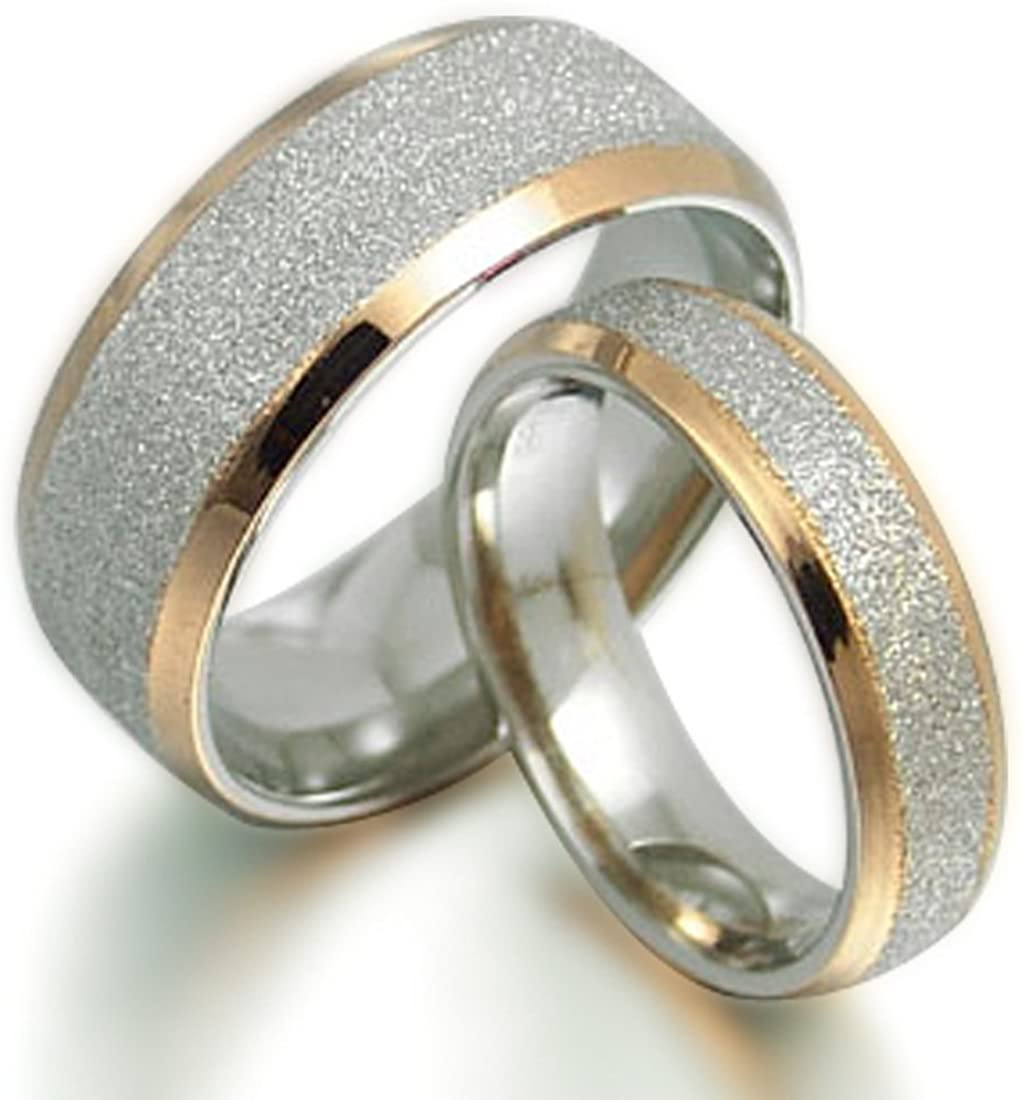Popular shop is the lowest price challenge Gemini His and Her Alternative dealer 18K Gold Rin Filled Wedding Titanium Matching