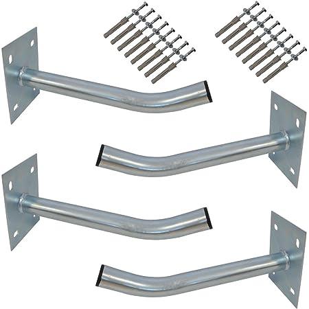 4 x PREMIUMX pneus de voiture support mural 35 cm Pneus Support pour jantes pneus de voiture support mural + Jeu de vis de montage