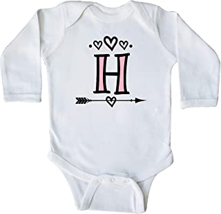 inktastic Letter H Monogram Tribal Arrow Long Sleeve Creeper