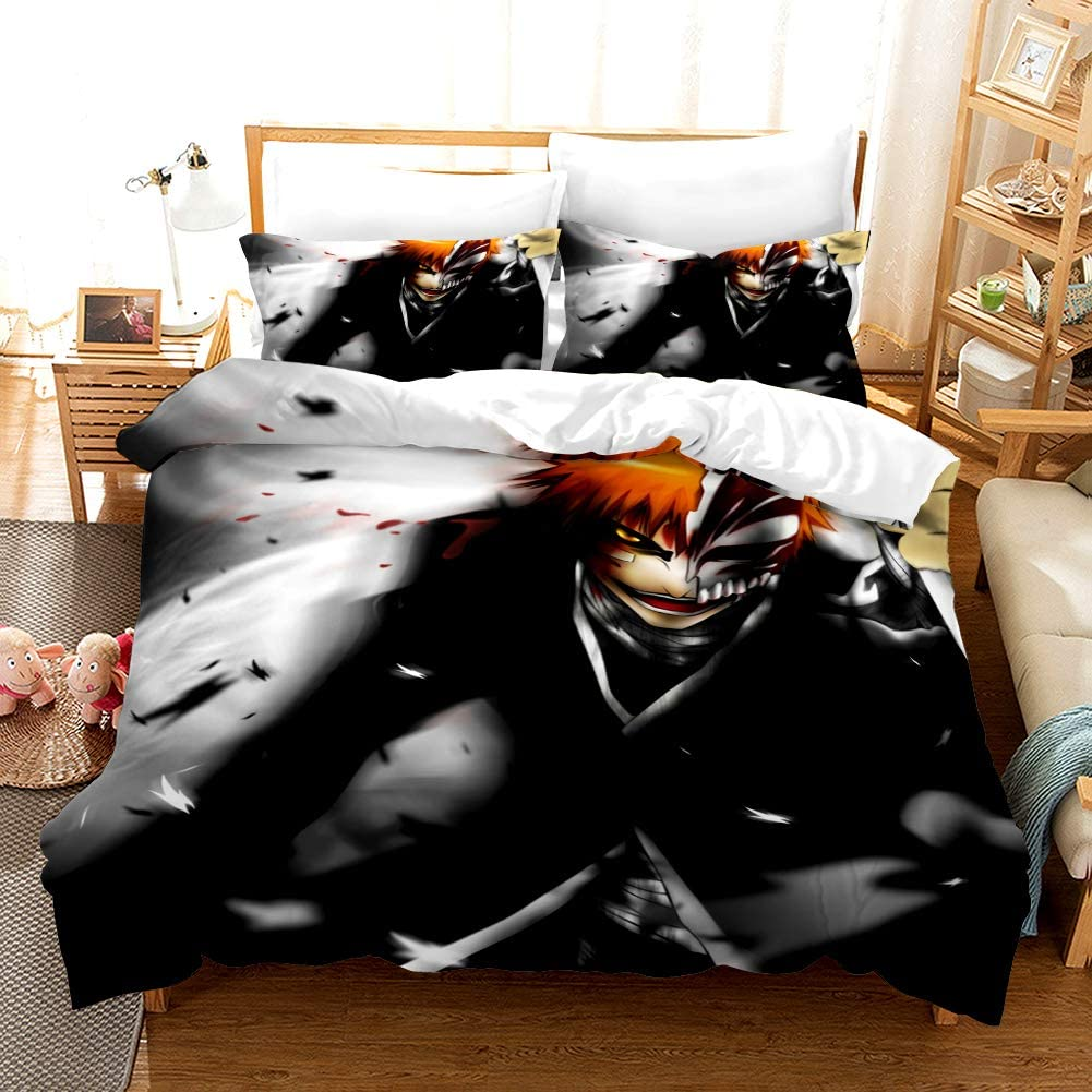 YUN-1 3-Piece Bedding Set HD Anime Polyester Max Limited price 66% OFF Fiber Patterns Comf