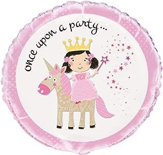 """Unique Princess Unicorn Once Upon a Party Foil Balloon, Multi, 45cm (18"""")"""