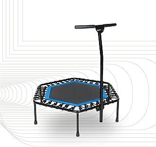 SportPlus Fitness studsmatta, Ø ca 126 cm, tyst gummidelfjäder, 5-vägs höjdjusterbart handtag, inklusive kantskydd, använd...