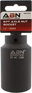 ABN Axle Nut Socket, 36mm, 1/2in Drive, 6 Point – Universal for All Vehicle 6pt Installation, Removal, Repair